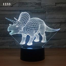 lampade a casa di senso Sconti Dinosaur lampada di notte creativa Smart Home Desk Lamp ha portato rilevamento tattile 3D della lampada di notte nuovi arrivi