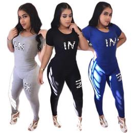 PK Mujeres Chándal Conjuntos de Niñas Camiseta de Manga Corta + Pantalones Largos 2 UNIDS Señoras Ropa Casual de Yoga Ropa Deportiva Adulta Deporte Traje desde fabricantes