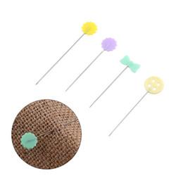 accessori per cucire bottoni di fiori Sconti 100 pz / set Patchwork Pins Flower Button Head Pins DIY Quilting Tool Accessori per cucire Perni patchwork cucito