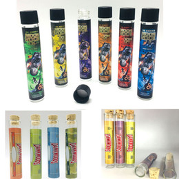 Moonrock Limpar DANKWOODS tubo de vidro vazio Dank Madeira Cork Dicas Vape Cartuchos Pré rolo Joint Embalagem 120 * 21mm seco Erva Fitoterapia E Cigarettes de