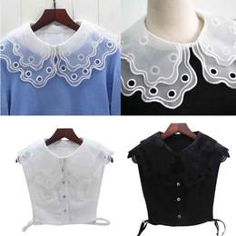 147f90550bdd37 Women White Black Color Lace Detachable Lapel Choker Necklace Shirt Fake  False Collar Fashion Clothes Accessories