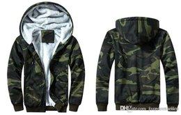 nuevo estilo para hombre con capucha de lana Rebajas Los nuevos Mens del camuflaje diseñador de moda las chaquetas Fleece con capucha Escudo tela escocesa del estilo caliente chaquetas para hombre de la calle de la chaqueta