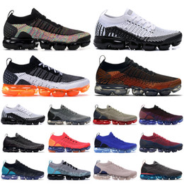 light blue mens top Promo Codes - Knit 2.0 1.0 Top Running Shoes Black Multi Color Dark Stucco White Pure Platinum Be True Mens Designer Shoes Womens Sneakers
