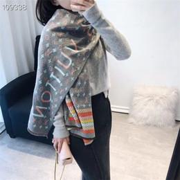 tartán bufanda de doble cara Rebajas bufanda de mezcla de cachemira de diseñador de lujo para mujer Bufandas térmicas clásicas gruesas de cachemira de doble cara de alta calidad Chal grueso largo