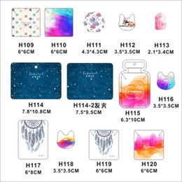 2019 New 100pcs Jewelry Paper Cards 12 Styles Printing Necklace Hang Tag Jewelry Display Cards Label Tag Organizer 4.5x10.8cm Jewelry Packaging & Display