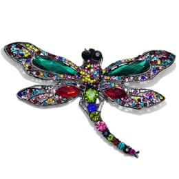New Insect Dragonfly Brooches Women Men Collar Suit Banquet Decoration  Rhinestone Animal Brooch Pins Wedding Dress Jewelry 1a9553e9d0b1