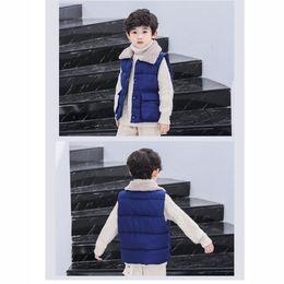 мальчики зебры жилет Скидка Детский дизайнерский жилет Fashion Luxury Boys Down Vest сплошной цвет для девочек, куртки, повседневная детская верхняя одежда с карманами 2019 осень