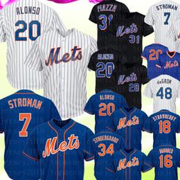 7 Marcus Stroman New York 20 Maillot Pets Alonso Mets 48 Jacob deGrom 31 Mike Piazza 30 Michael Conforto Cespedes Strawberry Jerseys Bleu ? partir de fabricateur