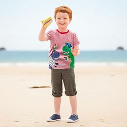 nuovo ragazzo della camicia degli stili di marca Sconti Ragazzi T-Shirt 2018 New Brand Animal Pattern Style Sunmmer manica corta Ragazzi vestiti T-Shirt per 18 mesi-6 anni