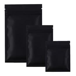 bolsas de papel de aluminio al por mayor Rebajas Bolsas Mylar negras Bolsas con cremallera de papel de aluminio para almacenamiento de alimentos a largo plazo y protección de coleccionables Dos colores