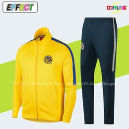 1a0ccf40e56 2019 Club America Jacket Kit Soccer Training Suit 18 19 Long Sleeve  Tracksuit Kit Uniform Shirts