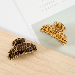Deutschland Xugar Haarschmuck Big Size Leopard-Haar-Greifer 07.04 / 9cm reifen Stil Clips für Frauen Mädchen Crab Barrette Kopfbedeckung Versorgung