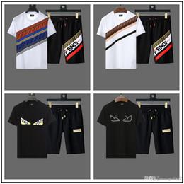 2020 beste mode t-shirt marken Markendesigner Luxus Herren Trainingsanzüge Sommer T-Shirt + Hose Sportswear Fashion Casual Sets Kurzarm Laufen Joggen Beste Qualität Plus Größe günstig beste mode t-shirt marken