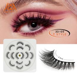 750796bc259 dramatic eyelashes 2019 - Lotus Shape 7 Pairs 3D Mink Lashes Natural Long  False Eyelashes Dramatic
