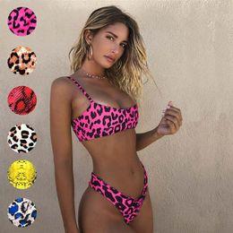 29ed47876 Leopardo Impressão Swimsuit Two Piece Biquíni Swimwear Sexy T de Volta  Verão Praia Desgaste Maiô Moda Roupas Femininas 190588 roupa de banho  feminina sexy ...