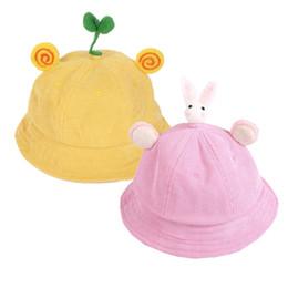cb21abab4df Newborn Baby Girls Hats Princess Infant Kids Cute Cartoon Spring Summer Sun  Caps Cotton Infant Outdoor Trip Baby Kids Bucket Hat