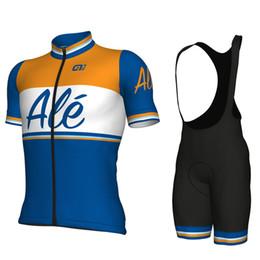 2019 Ale New Men Set da ciclismo a maniche corte traspirante Abiti maglie Salopette da ciclismo Bike Ropa Ciclismo Jersey da maglia di pelli fornitori