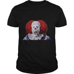 Erkekler tshirt Kısa kollu Ürpertici Palyaço Korku Korku Cadılar Bayramı T-Shirt Korkunç Palyaço Tüy Tek boyun Kadın t-shirt cheap scary clowns for halloween nereden cadılar bayramı için korkunç palyaçolar tedarikçiler