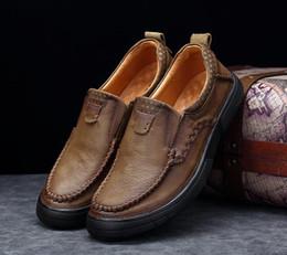 249fbe8beee1c All ingrosso-2019 Nuove vendite calde marchio di moda sexy di alta qualità  uomini appartamenti in pelle genuina designer uomo scarpe stringate scarpe  da ...
