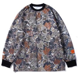 2019 maglione foglia d'acero 19FW Crane Maple Leaf Print Felpa da uomo e da donna Lettera Ricamo Hip Hop Heron Preston Oversize Round Collar Maglione sconti maglione foglia d'acero