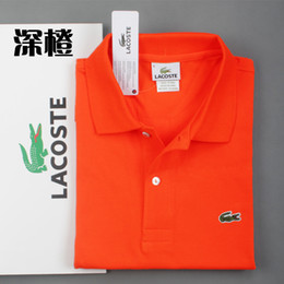 Homme t-shirt taille 5xl en Ligne-2019 été classique marque hommes shirt hommes broderie de polo en crocodile Polo ShirtS manches courtes Polos Shirt T Designer Polo Shirt, plus la taille S-5XL