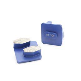 KD-L80 Redi Lock Zapatos de esmerilado de diamante Husqvarna Grinding Disc con dos segmentos de tambor para pisos de concreto y terrazo desde fabricantes