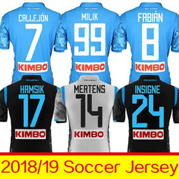 c70ae3a11 2018 2019 Serie A Naples New Napoli home soccer jerseys Napoli blue  football Jerseys Shirt men 18 19 HAMSIK L.INSIGNE PLAYER Shirt