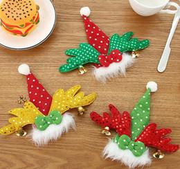 держатели вилки ножей для рождества Скидка Рождество Новый Год Карманный Вилка Нож Столовые Приборы Держатель Сумка Главная Партия Стол Ужин Украшения Посуда GB977