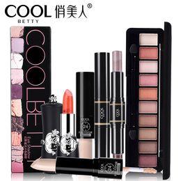 теневая помада Скидка Makeup Set Eye Shadow Lipstick Concealer Highlighter Cosmetics Beauty Tool For Girl Gift For Free Shipping