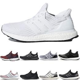 Ultra boost 45 online-Adidas Ultra boost 4.0 Core Nero Scarpe da uomo e da donna Scarpe da corsa per uomo sportivo sneakers moda flair uomo trainer chaussure Taglia 36-45