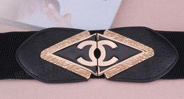 Горячие дизайнерские Ремни для женщины золото стильный эластичный ceinture femme пояса женская одежда аксессуар от