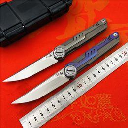 NOC Destiny тактика складной нож KVT шарикоподшипник M390 лезвие титановая ручка отдых на природе охота ножи выживания EDC инструменты от Поставщики маленький фиксированный дамасский охотничий нож
