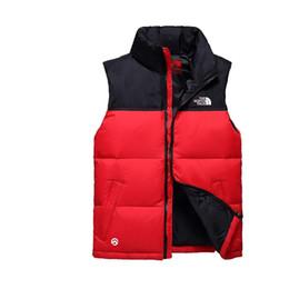 Diseños de chalecos online-S-XXL de la chaqueta abajo DHL C102405 norte NUEVO la Ropa diseño de la cara NF Marca chaleco de la capa del otoño del invierno Casual Male abajo mangas Ouertwear