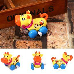 jouets en plastique de chenille Promotion Enfants Cartoon Vache Animal Mécanique À remonter Jouet Enfants Printemps Jouets Éducatifs Nouveau Mode Enfants Mécanique Jouets