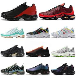 Chaussures de sport 3d en Ligne-nike air max plus vapormax TN Plus Ultra SE Chaussures De Course Hommes Femmes Chaussures Triple White Black Sunburst Baskets De Sport Sneakers 36-45