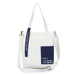 2019 bolsa de mensageiro de lona simples Saco de lona feminino impresso carta Messenger Bag tendência Trend Art simples desconto bolsa de mensageiro de lona simples