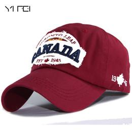 Canada YIFEI Hommes Snapback Caps Casquette Chapeau Pour Femmes Hip Hop Canada Lettres Brodé Casquette Patch Papa Chapeau 100% Coton Baseball Offre