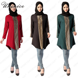 Canada Islamique Abaya Robe Arabe Top Shirt Filles Plus La Taille Abayas Femmes Vêtements Musulmans Ramadan Femmes Musicales Robe Robe Musulmane Marque cheap plus size islamic clothing Offre