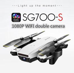 helicóptero quadcopter rc Rebajas LeadingStar SG700-S 4 canales Brush Motor RC Quadcopter con cámara 1080P Wifi FPV plegable Selfie Drone blanco RC helicópteros