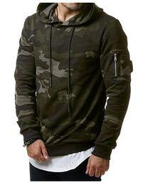 Sudaderas verde del ejército online-Sudaderas Hombre Diseñador clásico de camuflaje Sudadera con capucha Fleece Jerseys militares Pull Boys Army Green Grey Tops con capucha