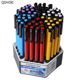2019 vente de couleur d'encre QSHOIC Bule INK Ventes directes d'usine en gros 60 Pcs / Lot Bureau Promos Stylo À Bille Cliquez Stylo À Bille Stylo En Plastique Multicolore promotion vente de couleur d'encre