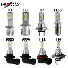желтый h11 противотуманные фары Скидка CJXMX Car LED Fog Light Bulbs 1600LM 6500K White 3000K Yellow H1 H3 H4 H7 H11 9005/HB3 9006/HB4 1156 Auto Fog Lamp Driving Bulbs