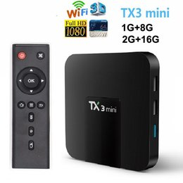 Caixa de tv inteligente android 4k on-line-TX3 Mini Android 8.1 TV Box S905W Smart TV Box Para 4K inteligente Television Caja de TV Android X96 Air TX6
