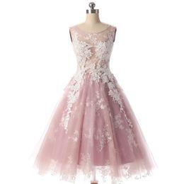 2018 élégantes tulle rose foncé courtes de retour au pays robes appliques blanches robes de soirée cocktail dos creux robes de bal mini robes de soirée ? partir de fabricateur