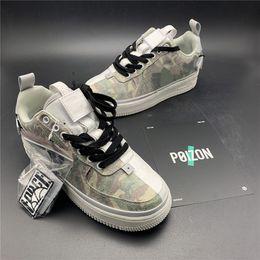 Yin schuhe online-Limited Force 1 07 QS 9010 Weiß Camo Yin Yang Designer Skateboard Schuhe Hochwertige Herren Damen Skateboard Schuhe Größe 36-45