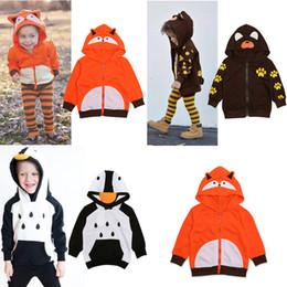 одежда для мальчиков 12 месяцев Скидка 3 цвета 2019 мальчиков дети Animail косплей толстовка с капюшоном куртки пальто детские милый мультфильм Лиса коричневый медведь пингвин мода кофты дети пиджаки