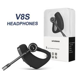 Auscultadores para maçã on-line-V8 v8s fones de ouvido sem fio bluetooth fone de ouvido handsfree fones de ouvido bluetooth v4.1 legenda estéreo sem fio fones de ouvido para iphone samsung no pacote