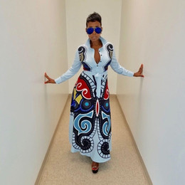 2019 si adatta a abiti Newon Butterfly stampato Casual Shirt Dress Women Button Up manica lunga Fit and Flare Maxi Dress Spring Fashion Camicetta Robe si adatta a abiti economici