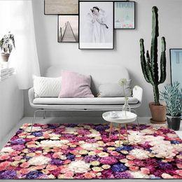Rugs and Carpets for Home Living Room Modern 3D Flower Girl Room Carpet  Bedroom Rug Nordic Decoration Home Baby Floor Mat