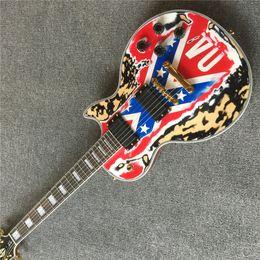 2020 guitarras zakk wylde Envío gratisRare Relic ZAKK WYLDE Guitarra REBEL BANDERA Heavy Relic Guitarra eléctrica Black Speed Knobs Gold Hardware black Pickups rebajas guitarras zakk wylde